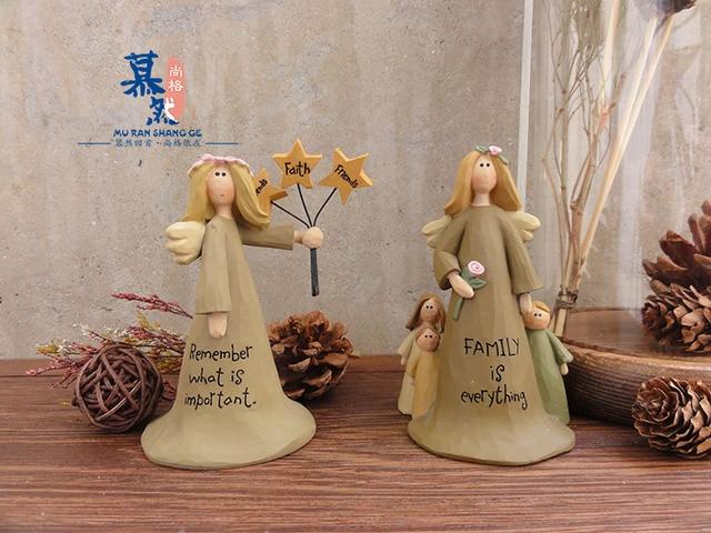 Europäischen Engel Statue Ornament Kinderzimmer Dekoration Harz Handwerk  Skulptur Mädchen Geschenk Ideas