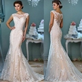 Sexy Lace Mermaid Wedding Dresses Tulle Country Western Wedding Gowns Weeding Weding Bridal Bride Dresses