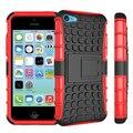 Caso Kickstand híbrido Para iPhone 5C TPU À Prova de Choque à prova de Pular Emborrachado PC Tela Handfeel Macio com estribo lateral
