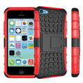 Hybrid Kickstand Case For iPhone 5C TPU Shockproof Skip proof Rubberized PC Soft Handfeel with kickstand Screen