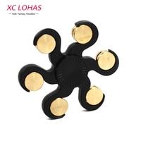 6 Legs Fidget Spinner Anti Stress Quiet Hand Spinner Funny Finger Toys Children Educational Toys Cool
