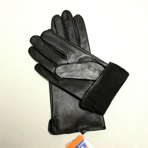 Image 4 - Кожаные перчатки goatskin, женские тонкие перчатки с сенсорным экраном, прямые, без подкладки, 100% овечья кожа, уличные перчатки для вождения