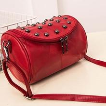 Famous Brand Handbags 2019 Portable European And American Style Rivet Shoulder Bag Trend Party Leather Popular Messenger Bag