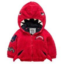 Ребенка акула капюшоном хлопка проложенный шерсть хлопок пальто толстые куртки зима Дети Дети Мальчики