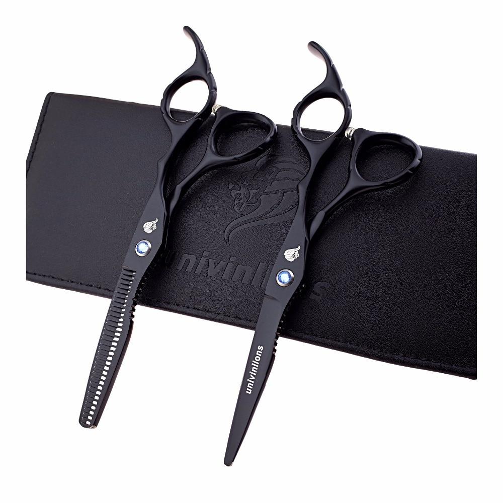 """6 """"zwarte haar schaar Japanse kappersscharen dunner shears verkoop haar sissors professionele kapper schaar set ciseaux"""