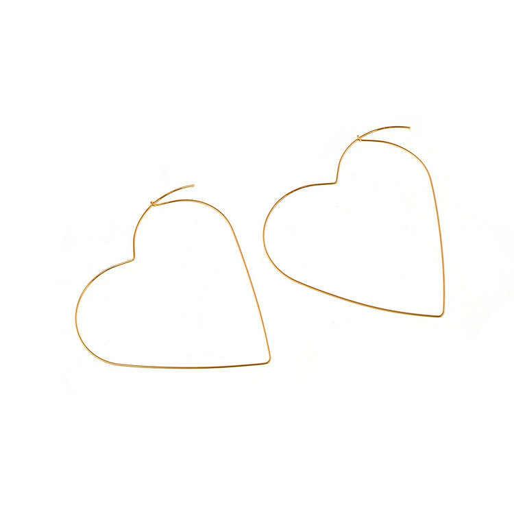 2018 אישיות אופנה החדשה מוגזם סקסי נשי גאות עגילי Brincos עגילי טיפת תכשיטי עגילי לב האהבה גדול ריק