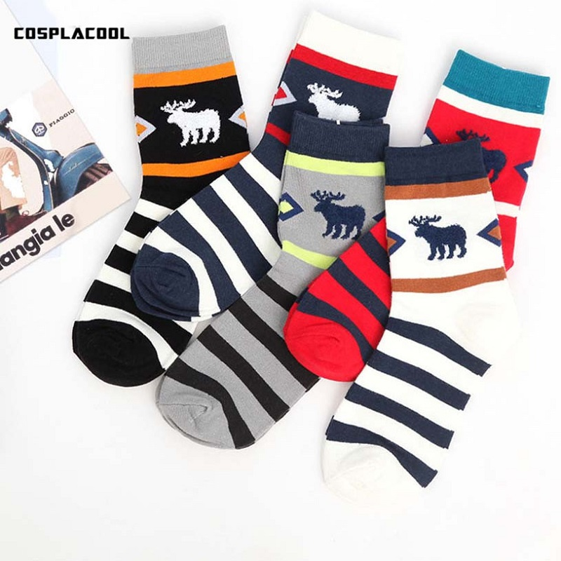 [COSPLACOOL]5 pairs of cool socks warm casual novelty happy socks men calcetines character Japan harajuku men socks Sokken