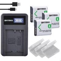 3Pcs NP BG1 NP BG1 Camera Battery + LCD USB Charger for Sony HX10 W30 W210 W100 W110 W120 H50 H55 H70 HX9 T20 T100 W55