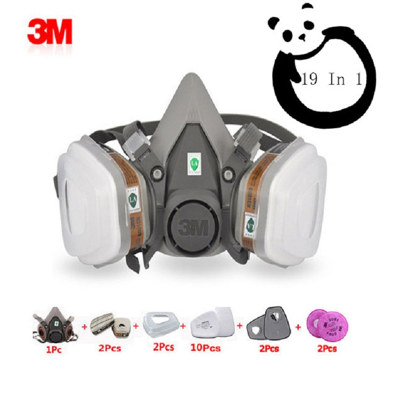 Gas 1 Respirator 6001 6200 Safety 603 Chemical In 19 Mask 3m