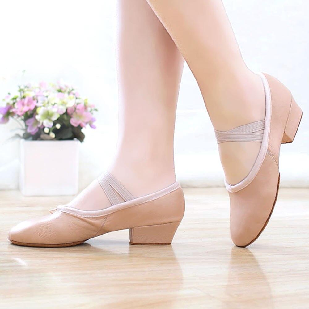 Mujeres Baile Calidad De ProfesoresAlta Zapatos Para Cuero WHIED92
