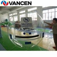 Прозрачный 2 м Диаметр надувной Гуляя для спортивных игр 1,0 мм ПВХ надувной пузырь воды мяч людской мяч