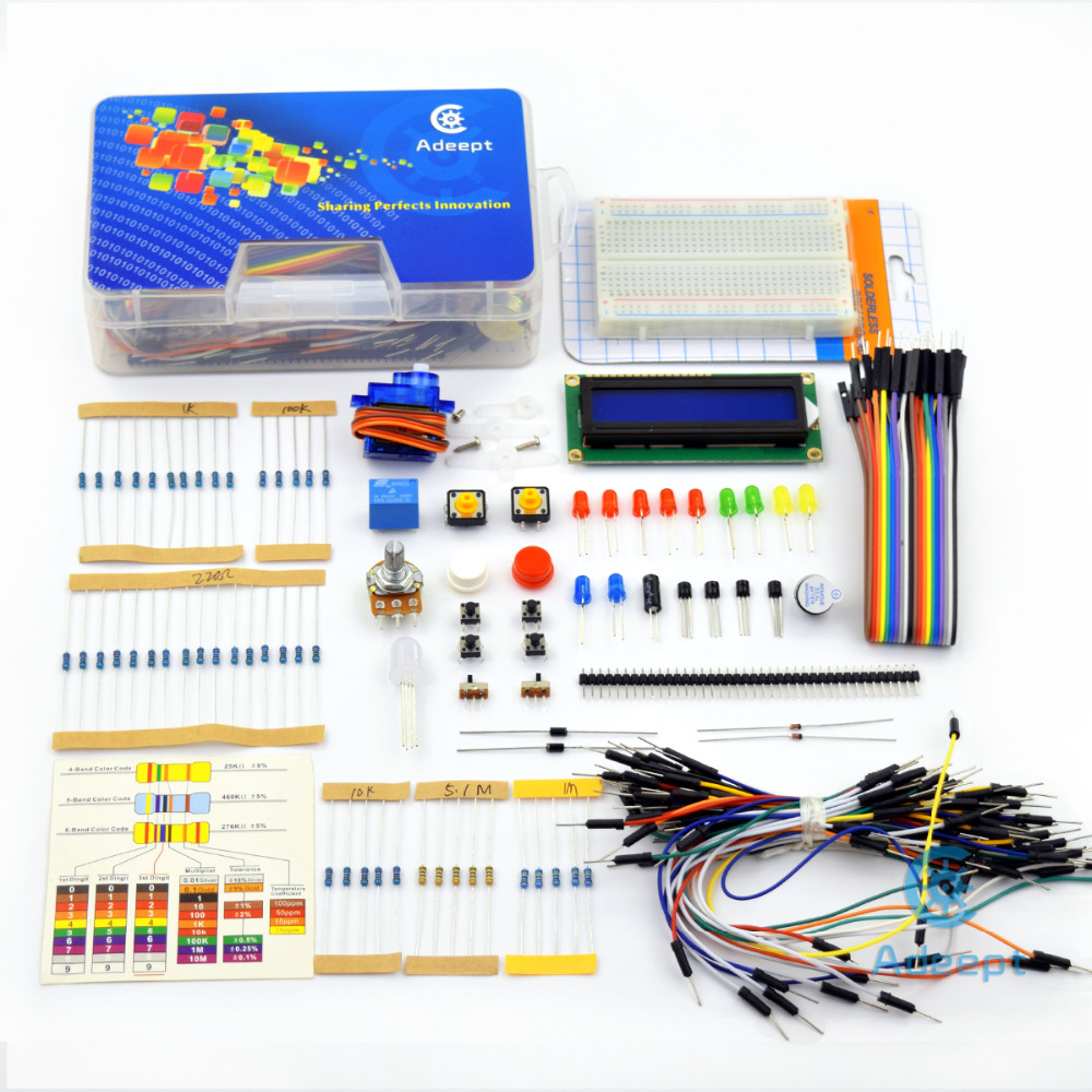 Adeept New Project 1602 Lcd Starter Kit For Raspberry Pi 3 2 B Wiringpi Servo Led Pdf Python Lcd1602 Freeshipping Book Diy Diykit In Replacement Parts
