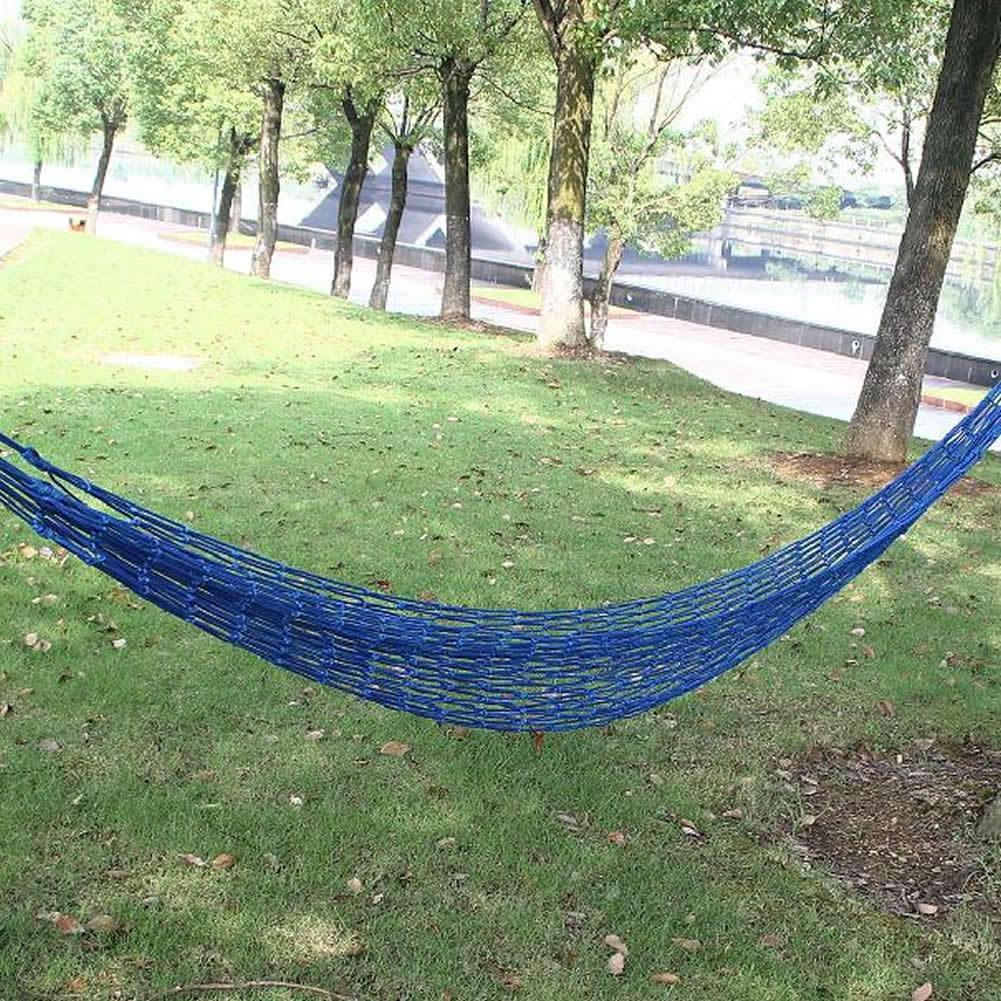 Mesh Nylon Hammock Hanging Outdoor Garden Swing Sleeping Bed Swing Strong Hammock for Camping Hiking Beach or gift for friendsMesh Nylon Hammock Hanging Outdoor Garden Swing Sleeping Bed Swing Strong Hammock for Camping Hiking Beach or gift for friends