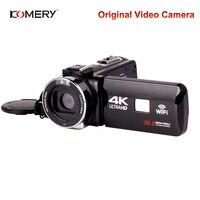 Натуральная KOMERY видео 4k Камера Wi Fi Ночное видение 3,0 дюймов HD Сенсорный экран замедленной киносъемки видеокамеры три года гарантии
