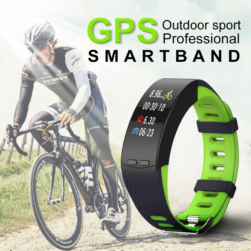 ZGPAX GPS Smart Bracelet Most Accurate Heart Rate Monitor Blood Pressure smart band Colorful Screen For IOS Android PK fitbits