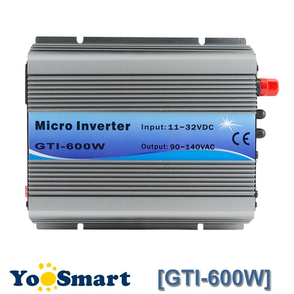 PowMr MPPT 600W On Grid Tie Inverter 18VDC 11 32VDC To 110VAC Or 220VAC Pure Sine