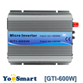 Polmr MPPT 600W en el inversor de la rejilla 18VDC (11 ~ 32VDC) A 110VAC o 220VAC inversor de onda sinusoidal pura refrigeración del ventilador para sistemas solares