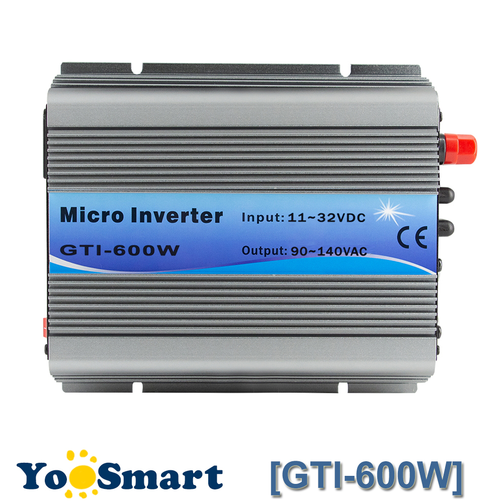PowMr MPPT 600W On Grid Tie Inverter 18VDC(11~32VDC) To 110VAC Or 220VAC Pure Sine Wave Inverters Fan Cooling for Solar Systems