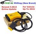 New MVD With Keygen+Bluetooth MVDiag MULTI VEHICLE DIAG V5.00.8 R2 OBDII/EOBD Diagnostic Scanner For Car Truck Untill 2016 Year