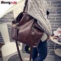 2017 big bag bolsa de ombro estilo Europeu e Americano cor sólida sacola de compras