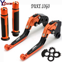 CNC Motorcycle Brake Clutch Levers handle Handlebar grips Ends Motorbike brake CNC FOR KTM 690 DUKE R 690DUKE R 2014 2015 2016