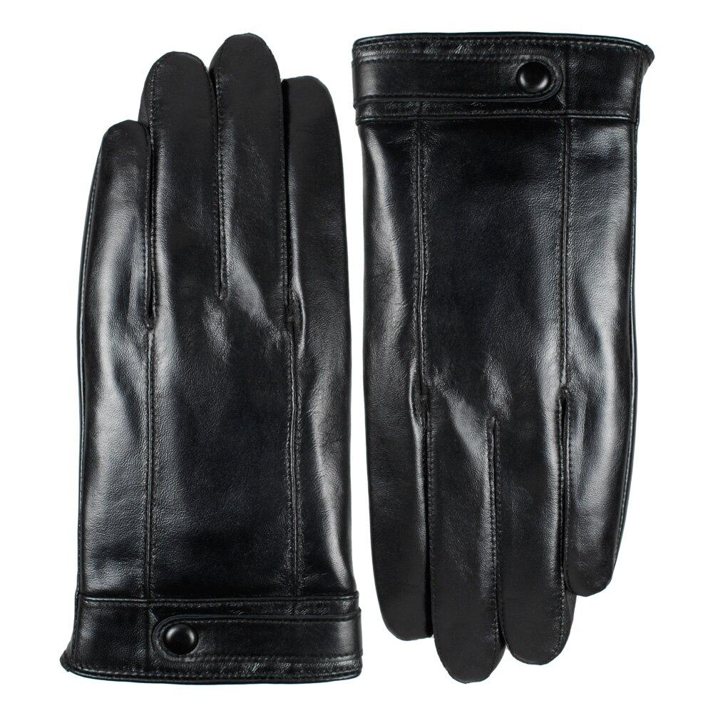 Mens down gloves - Men Winter Leather Gloves Touch Screen Sheepskin Leather Gloves Gentlemen Winter Down Warm Gloves China