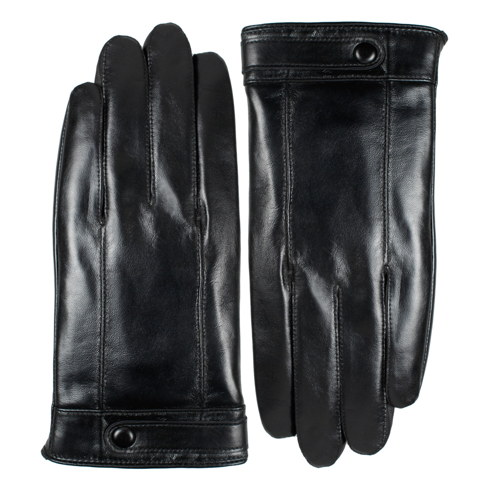 Plain leather gloves mens - Men Winter Leather Gloves Touch Screen Sheepskin Leather Gloves Gentlemen Winter Down Warm Gloves China