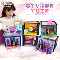 BDCOLE Fashion Colorful Plastic Apartment Villa Dollhouse Accessories Toy Girl Birthday Gift