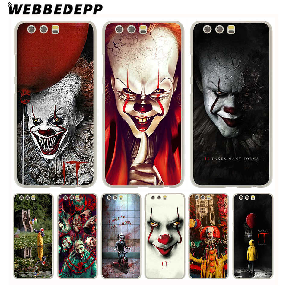 WEBBEDEPP Pennywise The Clown Horror Phone Case for Huawei P30 P20 Pro P smart 2019 Y7 Y9 2019 P10 P9 P8 Lite 2016/2017