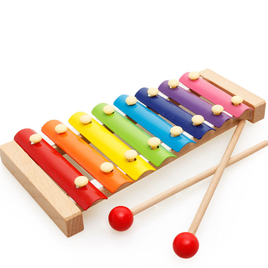 us $6.25 40% off|8 note wooden baby xylophone musical instrument toys piano  educational musical colorful toys for children kids baby 0 12 months -in