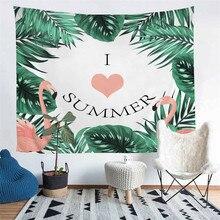 HELENGILI Home Furnishing Summer Flamingo Tapestry Wall Hanging Sandy Beach Picnic Throw Rug Blanket Camping Tent Sleeping Pad