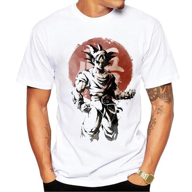 The Dragon Ball Z Fashion Men t shirt CAPSULE CORP. Logo Male Casual Tops Short Sleeves Letter Printing Creative Saiyan Tee