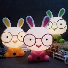 Rabbit Lamp 110V 220V 230V EU Plug Lovely Baby Gift LED Night Light For Children Kids