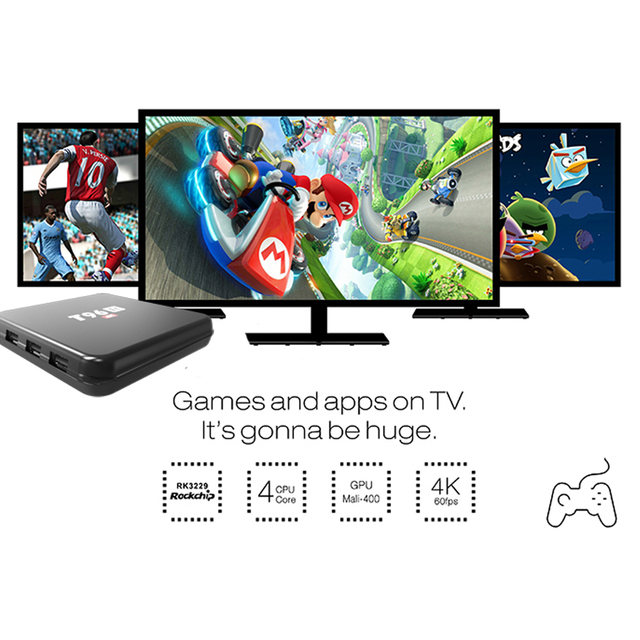Set top Box TV 4 k Android5.1 DDR3 2 GB RAM 8 GB WiFi HD Caixa de TV inteligente Media Player HEVC H.265 BT4.0 Bluetooth de Fábrica 1080 p Quad