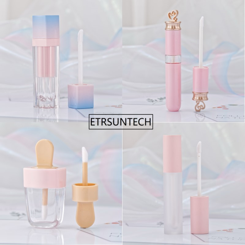 20pcs Pink Lip Gloss Tint Plastic Tubes DIY Empty Makeup Big Lipgloss Liquid Lipstick Case Beauty Packaging F2286 image