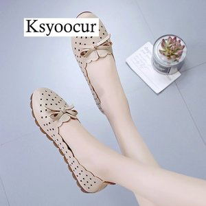 Image 5 - Brand Ksyoocur 2020 New Ladies Flat Shoes Casual Women Shoes Comfortable Round Toe Flat Shoes Spring/summer Women Shoes X05