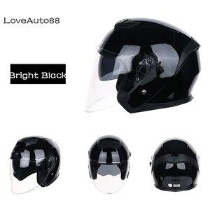Image 4 - Motorcycle Helmet Half Face ABS Motorbike Helmet Safe Racing helmet Motorcycle Helmet For Woman/Man