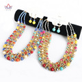 Traditional african necklace beads jewelry set colorful necklaces earring africa wedding jewelry sets women WYA167