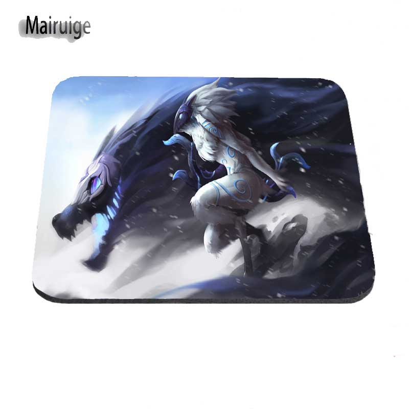 Custom Top Selling The League of Legends LOL Silon Anti-slip Mousepad Computer Gaming Mouse Pad Mat For Optal Me Trackball Mouse