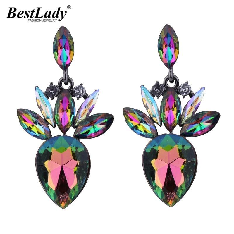 Best lady Bohemian Multicolored Luxury Dangle Earrings Women Hot Sale Cheap Sexy Trendy Drop Earring Femme Wholesale Bijoux 4126