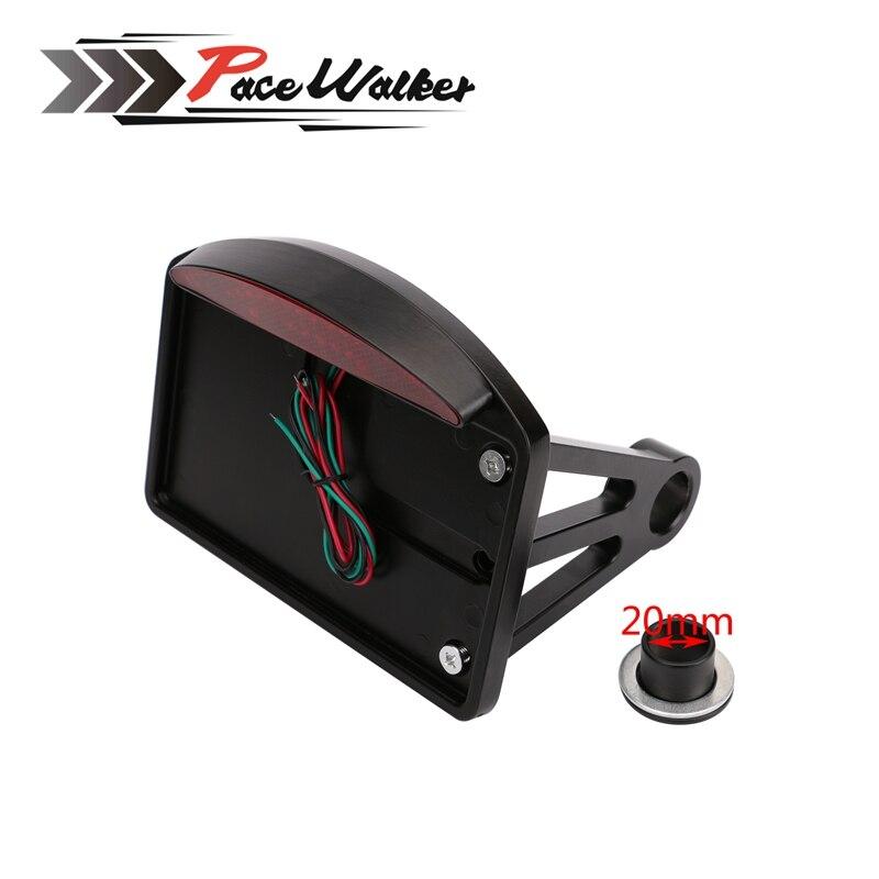 Side Mount License Plate Bracket Tail Light For Harley Sportster Bobber Chopper