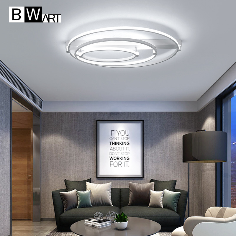 BWART Oval Modern Led Chandelier For Living Room Bedroom Dining Aluminum Body Indoor Home Lamp Lighting Fixture In Chandeliers From Lights