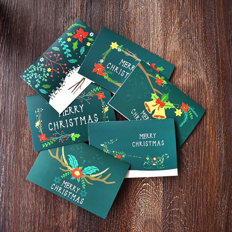 48pcs Lot Green Vintage Christmas Cards With Envelope Amazon Selling Greeting Postcard Gift In Invitations From Home