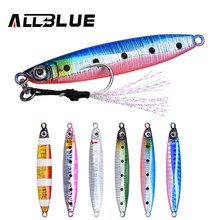ALLBLUE SNIPER Metal Jig Flat Fall Spoon 18G 35G Shore Slow Cast Jigging Lead Fish Sea Bass Fishing Lure Artificial Bait Tackle(China)