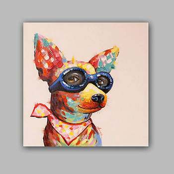 Dog painting Canvas acrylic painting wall art pictures for living room home decor pop art animal Painting cuadros decoracion0013