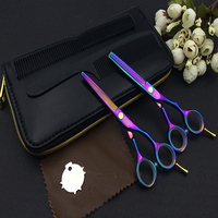 SMITH CHU Rainbow Hair Scissors 5 5 INCH Cutting Scissors Thinning Shear Packaging 1SET LOT NEW