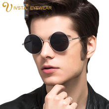 IVSTA Round Sunglasses Men Al-Mg Frame Polarized Glasses Mens Harry Potter Eyeglasses Driver aluminum magnesium Mirror revo 8552(China (Mainland))