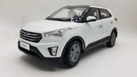 1:18 Diecast Model for Hyundai IX25 2016 White SUV Alloy Toy Car Miniature Collection Gifts IX
