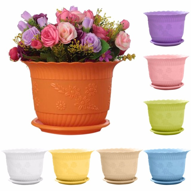 US $1 61 |1Pc 8*12cm Wholesale Flower Pots Mini Plastic Flowerpot Garden  Unbreakable Plastic Nursery Pots for Succulent Plants #280251-in Flower  Pots