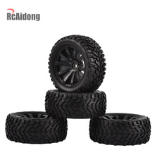 4PCS 1/10 RC Rally Car Grain Rubber Tires Off-road Tires and Wheels for Traxxas Tamiya HSP HPI Kyosho RC On Road Car surpass hobby 550 21t 27t 35t brushed motor 60a esc with 5v 2a bec for hsp hpi kyosho traxxas 1 10 rc crawler off road climbing